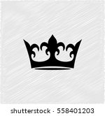 crown    black vector icon | Shutterstock .eps vector #558401203