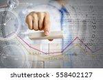 he is building his business .... | Shutterstock . vector #558402127