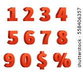red figure numbers ... | Shutterstock .eps vector #558406357