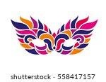 carnival mask. bright colors... | Shutterstock .eps vector #558417157