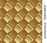 geometric golden seamless... | Shutterstock .eps vector #558418837
