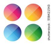 empty round button vector set | Shutterstock .eps vector #558421543