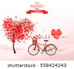 valentine holiday background... | Shutterstock .eps vector #558424243