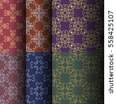 set of seamless vintage... | Shutterstock .eps vector #558425107