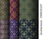 set of seamless vintage... | Shutterstock .eps vector #558425137
