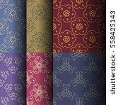 set of seamless vintage... | Shutterstock .eps vector #558425143