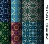 set of seamless vintage... | Shutterstock .eps vector #558425467