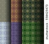 set of seamless vintage... | Shutterstock .eps vector #558425473