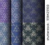 set of seamless vintage... | Shutterstock .eps vector #558425503