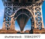 Legs Of Manhattan Bridge Seen...