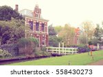 street with vintage traditional ... | Shutterstock . vector #558430273