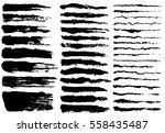 ink brush strokes  set of paint ... | Shutterstock .eps vector #558435487