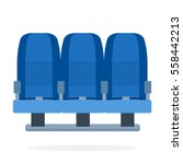 triple seat aircraft vector... | Shutterstock .eps vector #558442213