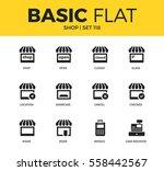 basic set of showcase  location ... | Shutterstock .eps vector #558442567