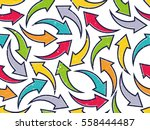 grunge arrow pattern background.... | Shutterstock .eps vector #558444487