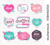 vector set of valentines day... | Shutterstock .eps vector #558446503