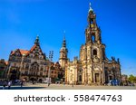 dresden cathedral of the holy... | Shutterstock . vector #558474763