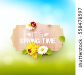 its spring time. spring... | Shutterstock .eps vector #558478597