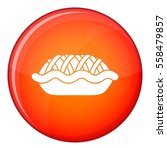 pie icon in red circle isolated ... | Shutterstock . vector #558479857