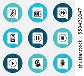 set of 9 editable multimedia...