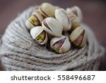 selective focus of pistachio