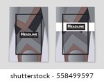 abstract vector layout... | Shutterstock .eps vector #558499597