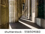 abstract photo of columns of... | Shutterstock . vector #558509083