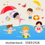 summer holiday | Shutterstock .eps vector #55851928