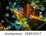 smart city and wireless... | Shutterstock . vector #558519517