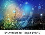 smart city and wireless... | Shutterstock . vector #558519547