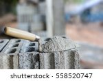 cement or mortar  cement powder ... | Shutterstock . vector #558520747