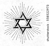vintage style star of david... | Shutterstock .eps vector #558522973