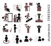 alone icon set | Shutterstock .eps vector #558533413