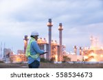 engineer discussing a new... | Shutterstock . vector #558534673