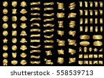 gold ribbon banner label vector ... | Shutterstock .eps vector #558539713