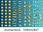 gold banner ribbon label vector ... | Shutterstock .eps vector #558541807