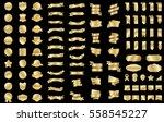 gold banner ribbon label vector ... | Shutterstock .eps vector #558545227