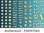 gold label ribbon banner vector ... | Shutterstock .eps vector #558547063