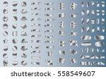 silver label ribbon banner... | Shutterstock .eps vector #558549607