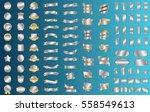 label ribbon banner silver... | Shutterstock .eps vector #558549613