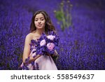 Beautiful Woman On Purple...