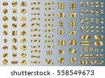 gold label ribbon banner vector ... | Shutterstock .eps vector #558549673