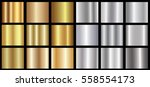 gold silver gradient background ... | Shutterstock .eps vector #558554173