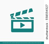clapper board  icon. one of set ... | Shutterstock .eps vector #558554527
