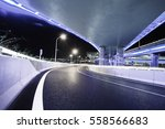 empty road floor with city... | Shutterstock . vector #558566683