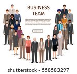 international business men and... | Shutterstock .eps vector #558583297