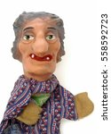 Small photo of Punch theatre puppet, mad mother-in-law, to act up