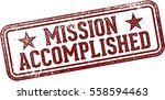 mission accomplished rubber... | Shutterstock .eps vector #558594463