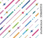 diagonal color garland from... | Shutterstock .eps vector #558600553