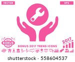pink wrench maintenance icon... | Shutterstock .eps vector #558604537